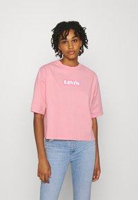 Levi's® - SHORT SLEEVE MOCKNECK - T-shirt con stampa - peony - 0
