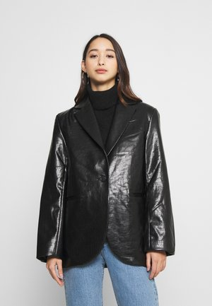 RUMI CROCO - Blazer - black