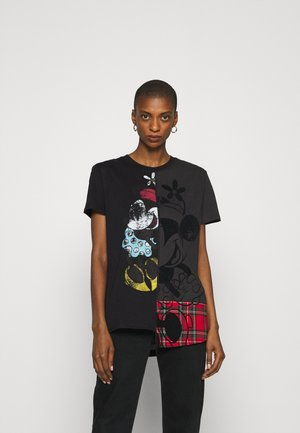 MICKEY MINNIEMIX - T-shirt z nadrukiem - black