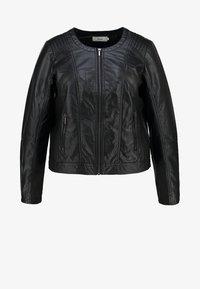 Zizzi - IMITATED JACKET - Faux leather jacket - black - 5