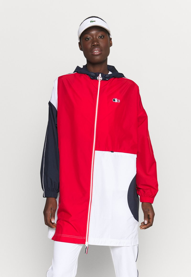Lacoste Sport - OLYMP JACKETS - Training jacket - navy blue/red/white