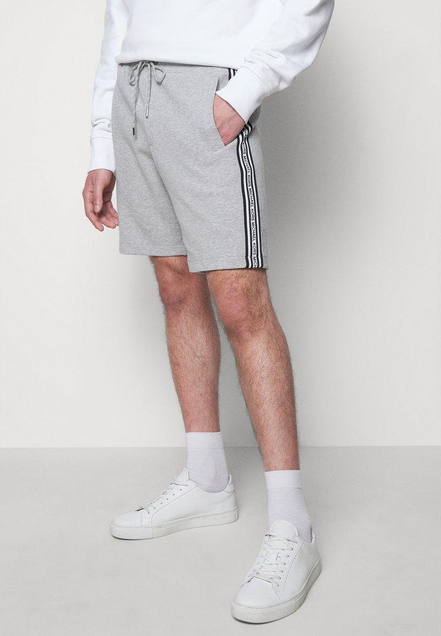 BLOCKED LOGO  - Shorts - heather grey