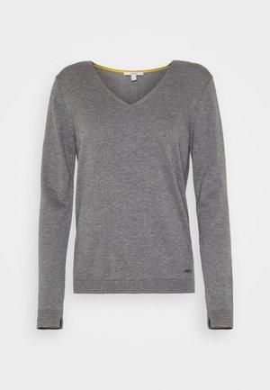 Strikkegenser - dark grey