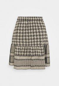 CECILIE copenhagen - HERDIS SKIRT - Mini skirt - black/cream - 0