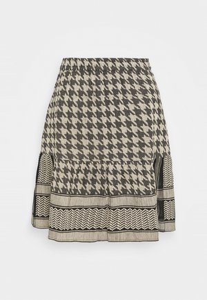 HERDIS SKIRT - Minisukně - black/cream
