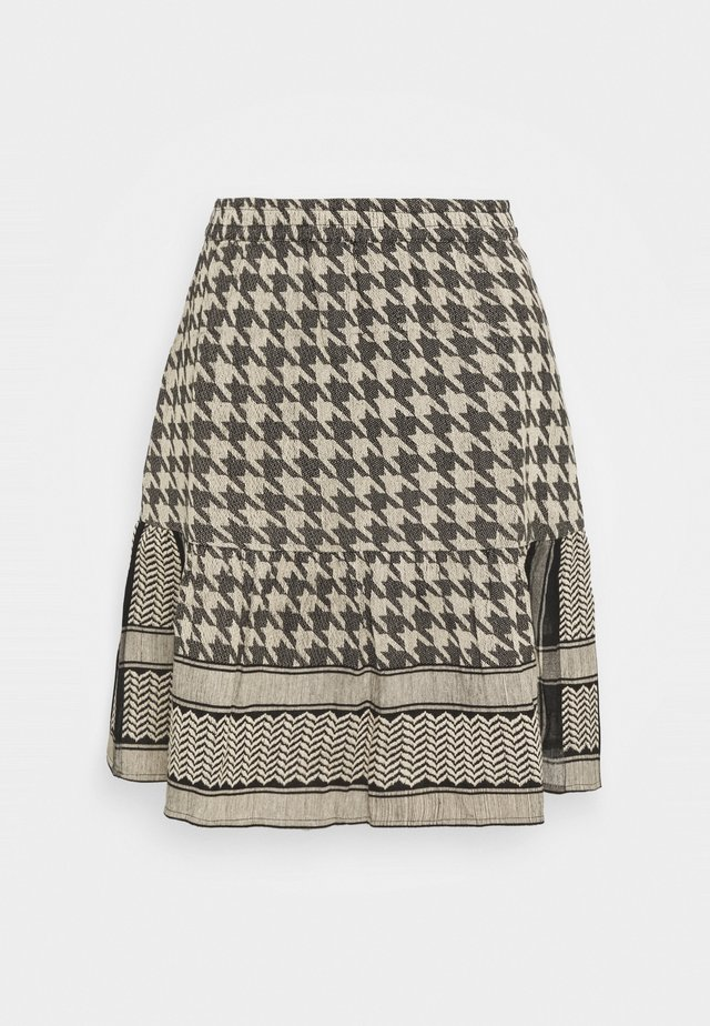 HERDIS SKIRT - Mini skirt - black/cream