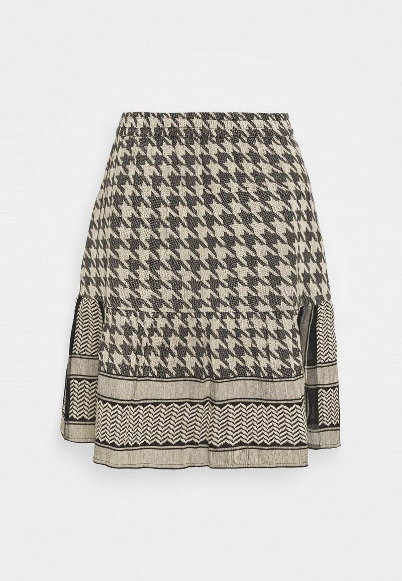 CECILIE copenhagen - HERDIS SKIRT - Mini skirt - black/cream