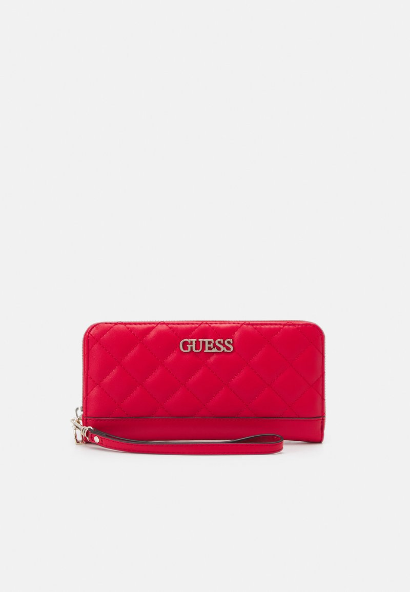 Guess - ILLY LARGE ZIP AROUND - Portefeuille - red