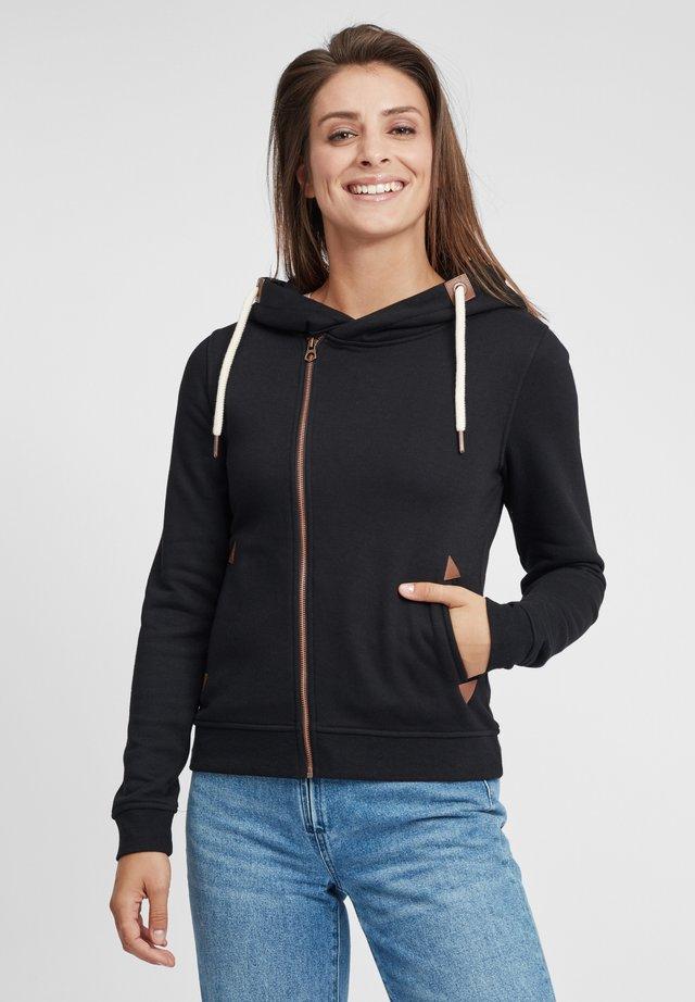 VICKY - veste en sweat zippée - black