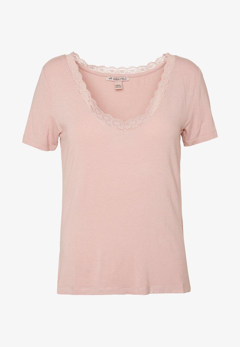Anna Field T-Shirt basic - abyss/hellgrün as5iWj
