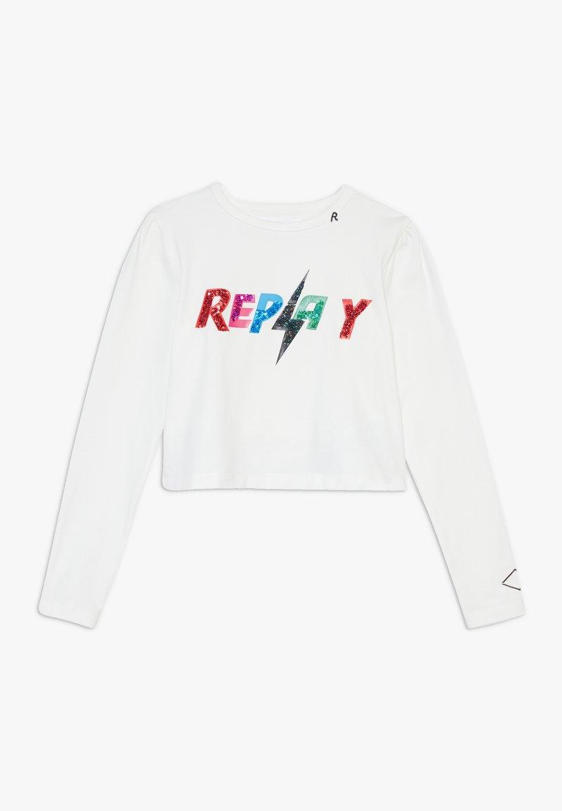 Replay - Maglietta a manica lunga - white