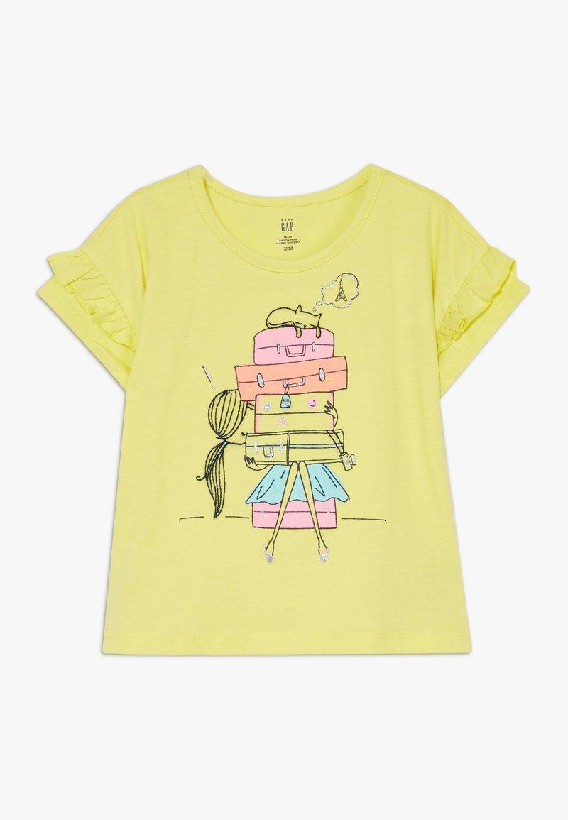 GAP - TODDLER GIRL  - T-shirt con stampa - yellow