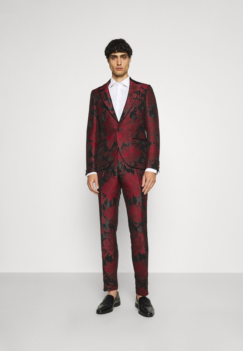 Twisted Tailor - LORRIS SUIT - Oblek - black/red