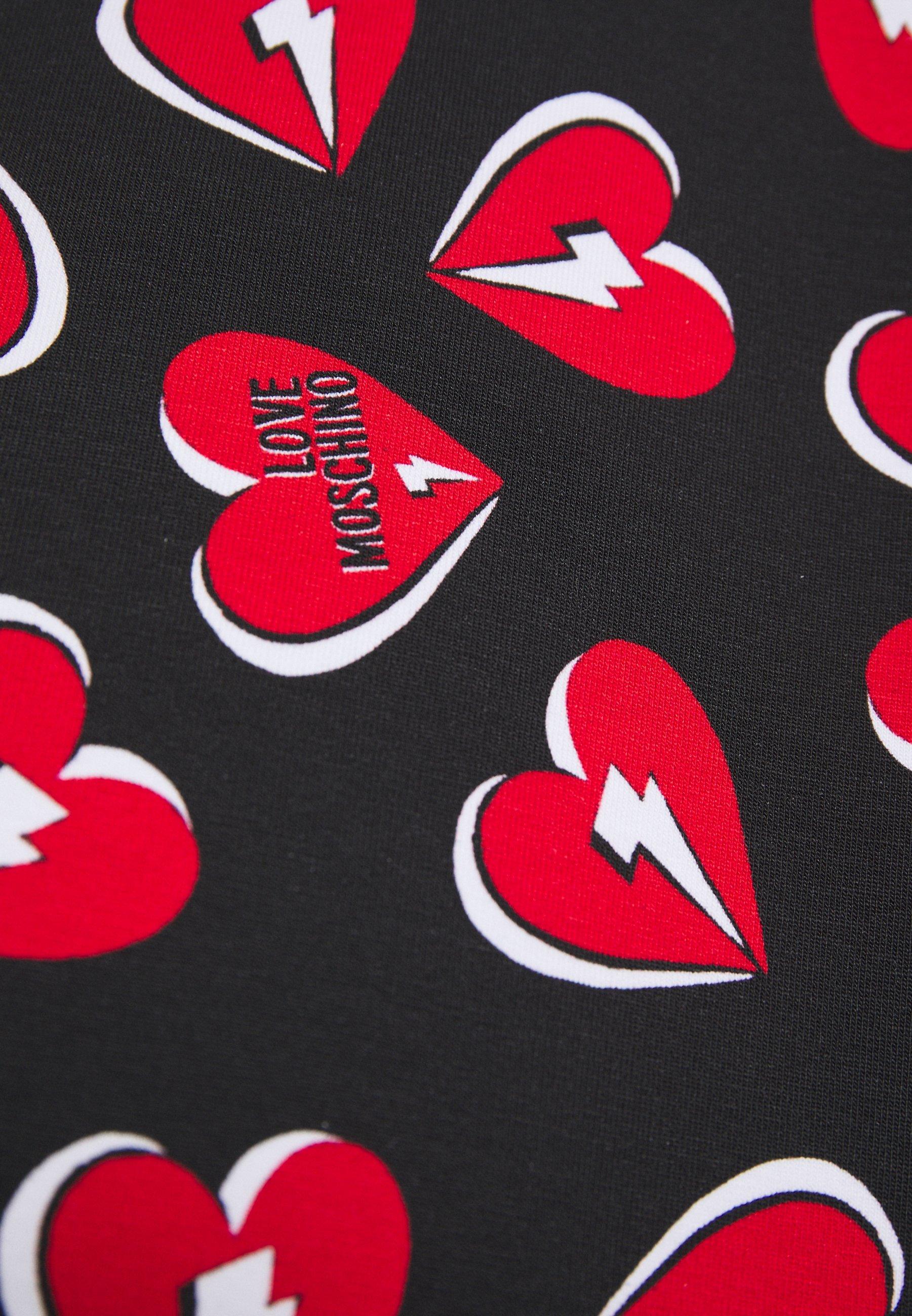 Love Moschino Freizeitkleid nero/rot