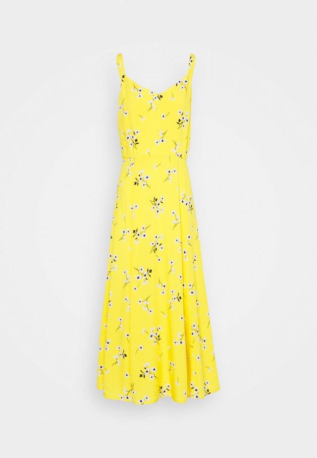 V CAMI MIDI  - Sukienka letnia - yellow