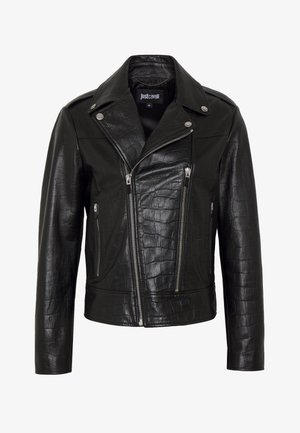 SPORTSJACKET BIKER - Leather jacket - black