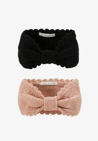 mint&berry - 2 PACK - Ear warmers - black/rose - 3