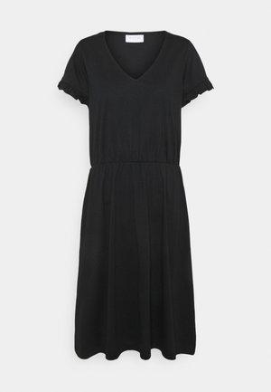 VIDREAMERS V-NECK DRESS - Korte jurk - black