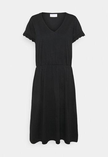 VIDREAMERS V-NECK DRESS - Day dress - black