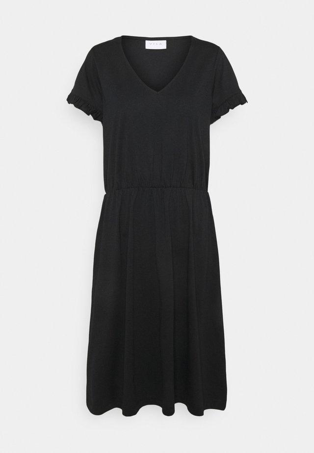 VIDREAMERS V-NECK DRESS - Denní šaty - black
