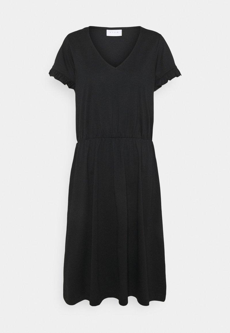 Vila - VIDREAMERS V-NECK DRESS - Day dress - black