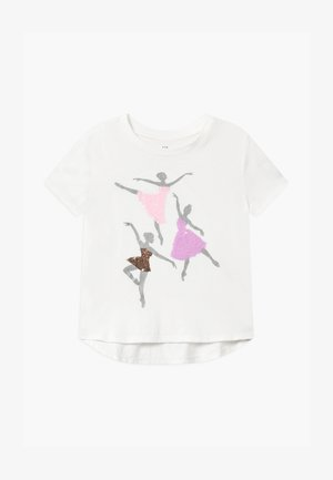 GIRLS - Triko s potiskem - new off white