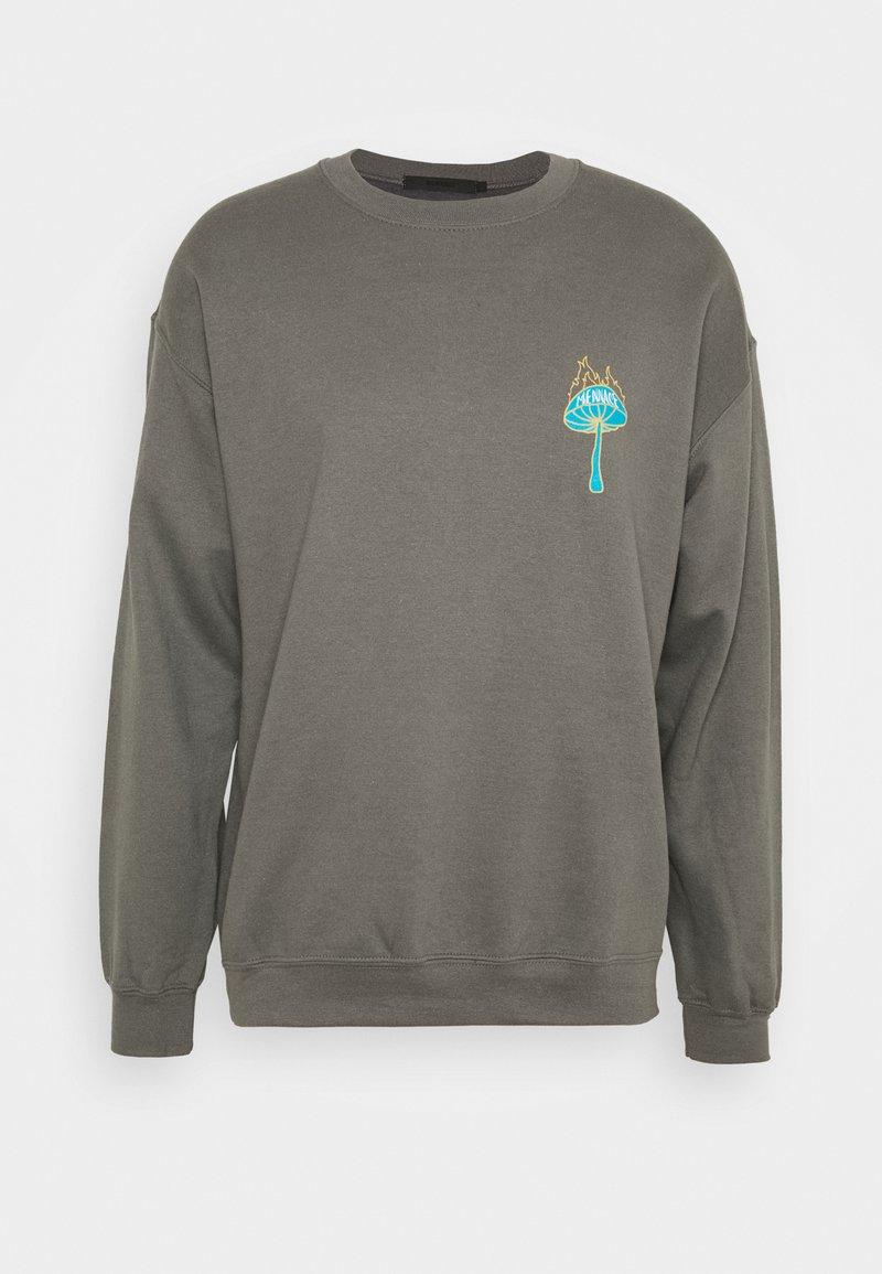 Mennace - UNISEX SHROOM PRINT  - Sweatshirt - charcoal