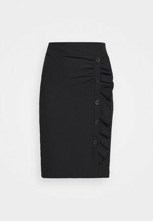 LEAH SIDE SKIRT - Jupe crayon - black