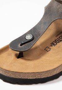 Birkenstock - GIZEH - Slippers - iron - 5