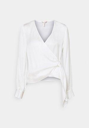 BLOUSE OVERLAP KNOT - Camicetta - off white