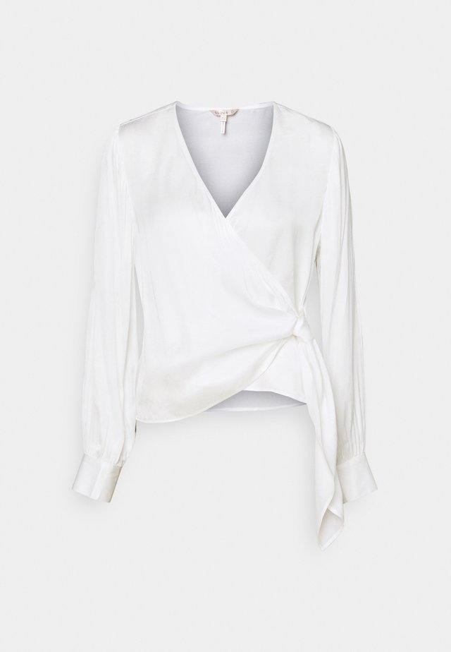 BLOUSE OVERLAP KNOT - Blus - off white