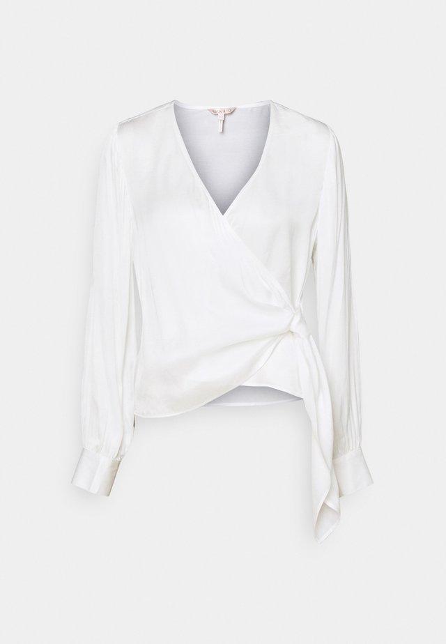 BLOUSE OVERLAP KNOT - Blouse - off white