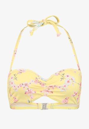 WIRE BANDEAU - Bikini top - yellow