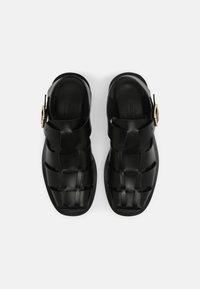 ARKET - FLAT SANDALS - Platform sandals - black - 5