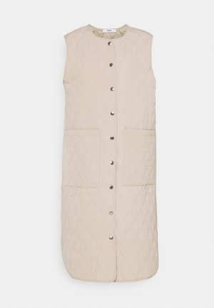 ONLMARIE QUILTET LONG VEST - Vest - humus