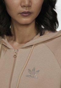 adidas Originals - Zip-up sweatshirt - beige - 5