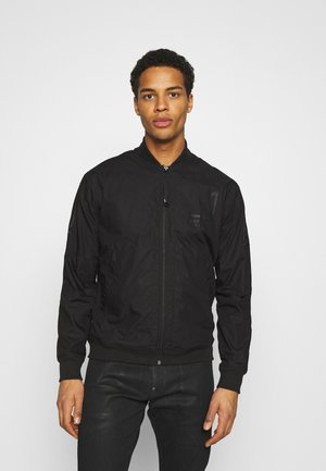 BASEBALL ZIP THROUGH  - Blouson Bomber - dark black