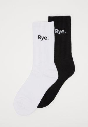 HI BYE SOCKS 2 PACK - Ponožky - black/white