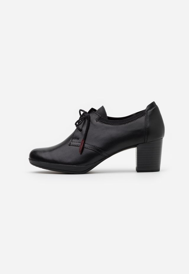 LACE UP - Ankle boots - black antic