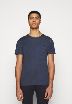 CLAYTON - Jednoduché triko - blue melange