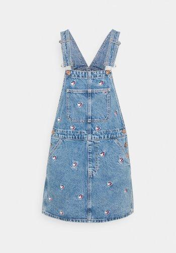 CLASS DUNGAREE DRESS  - Vestito di jeans - denim light