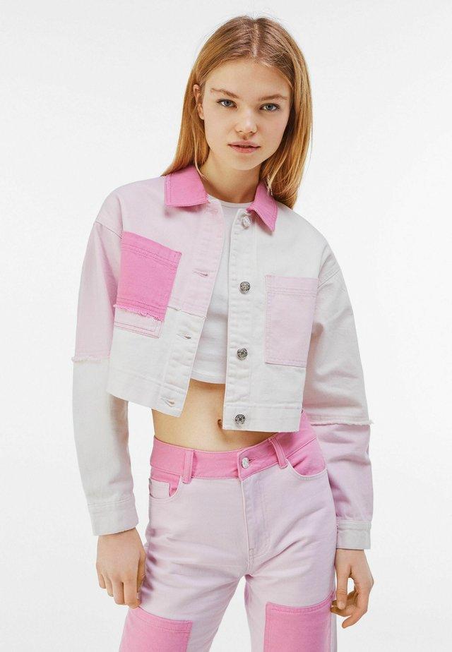 Veste en jean - pink