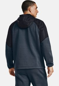 Under Armour - ESSENTIAL SWACKET - Zip-up hoodie - mechanic blue - 1