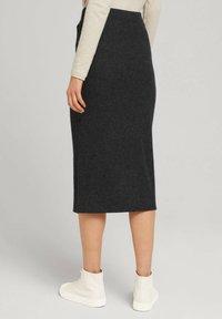 TOM TAILOR DENIM - Wrap skirt - mottled grey - 2
