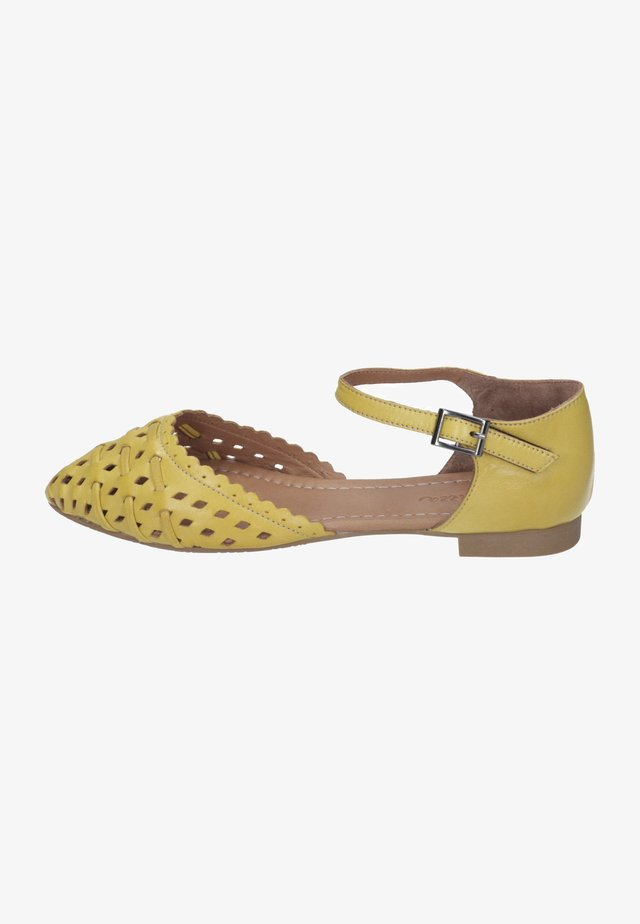 Ankle strap ballet pumps - gelb