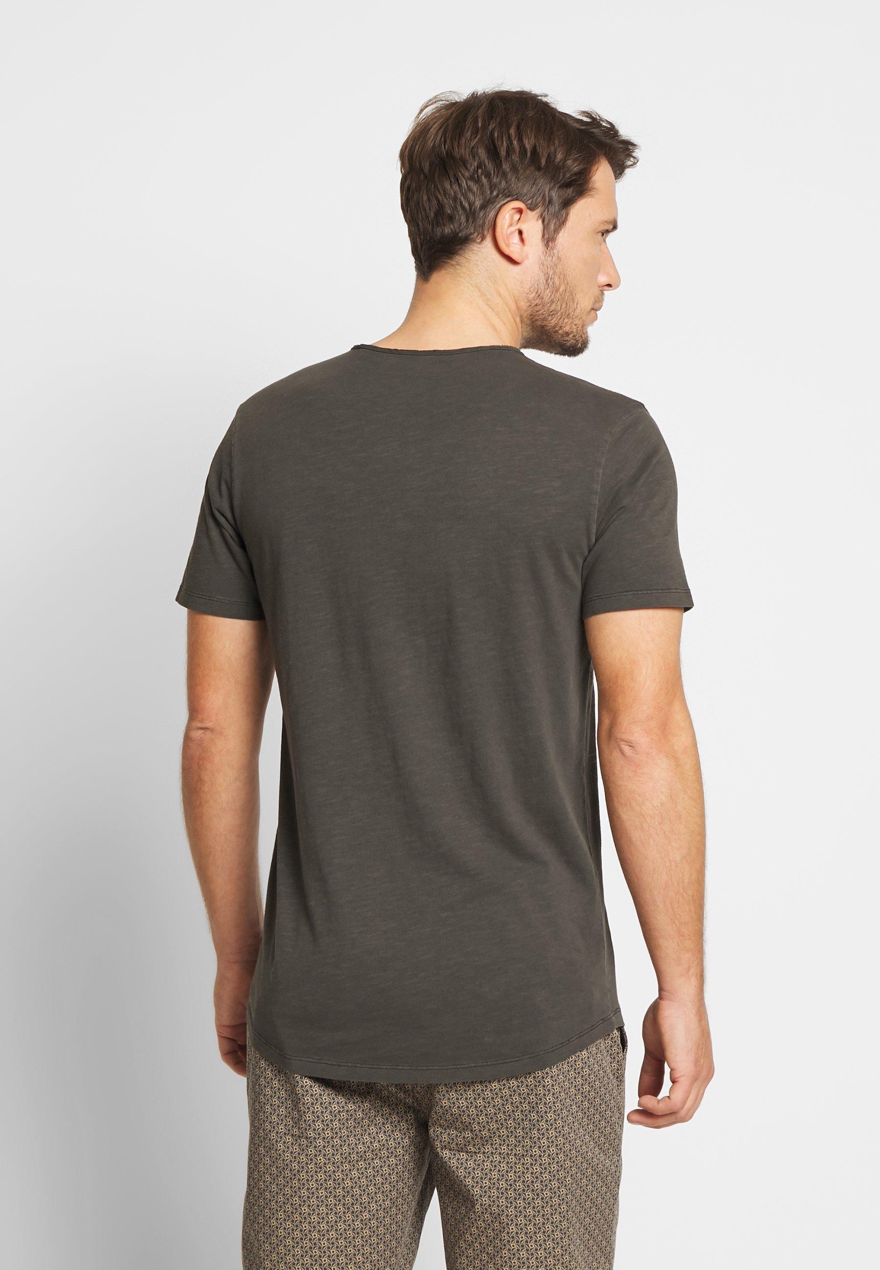 Jack & Jones PREMIUM JJEASHER TEE O-NECK NOOS - Basic T-shirt - black/reg Fkdn8