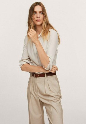 Button-down blouse - beżowy