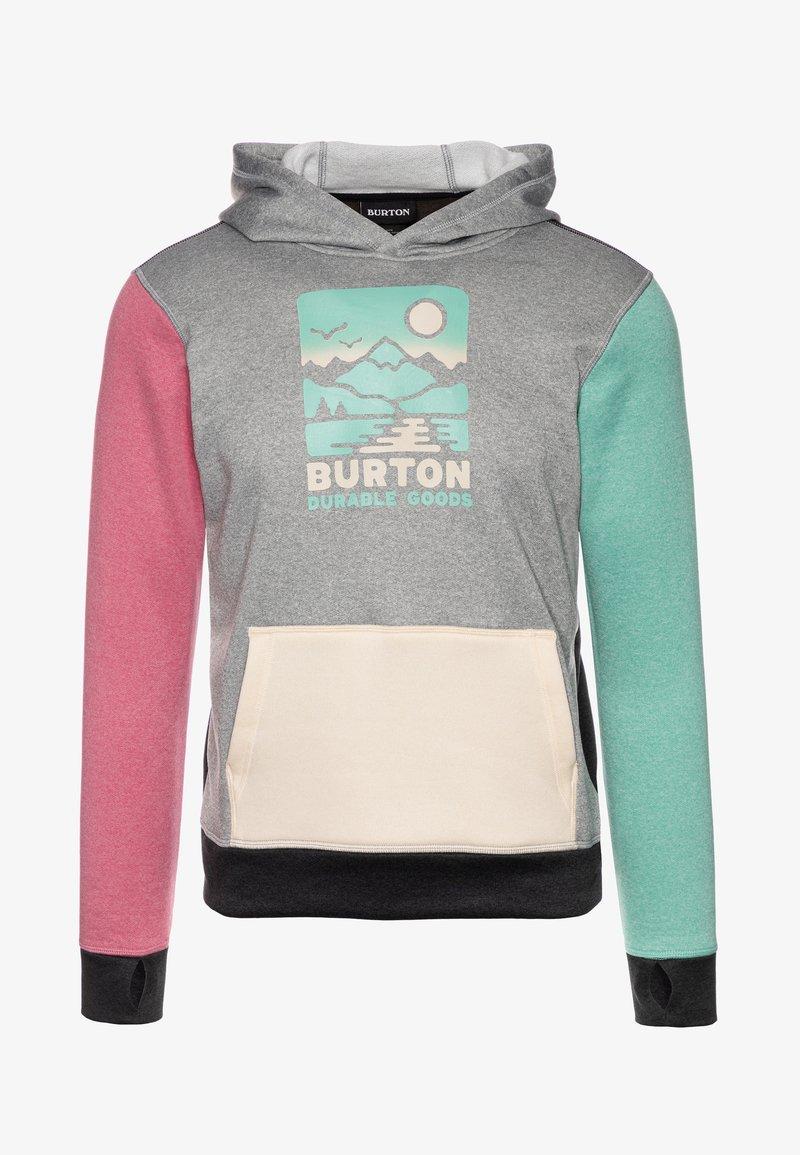 Burton - OAK - Jersey con capucha - gray heather/multicolor