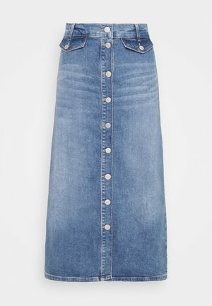 SLFASLY - Denim skirt - light blue denim