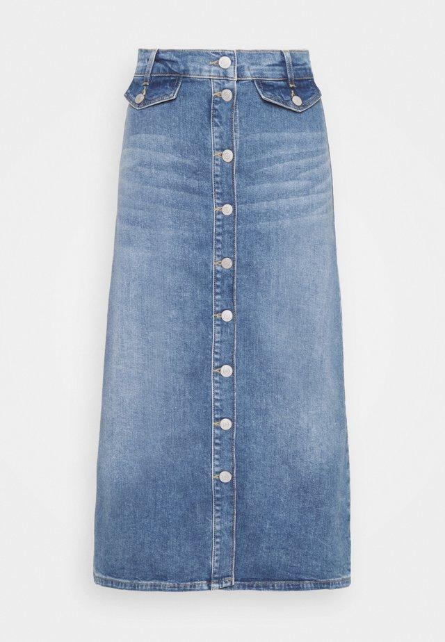 SLFASLY - Denim skirt - light blue denim